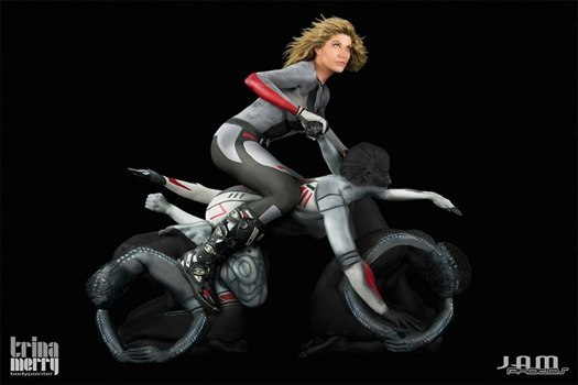 motorcycle  body  painting  art  photographs  trina  merry 3  Amazing  Body  Painting  Photographs  By  Trina  Merry