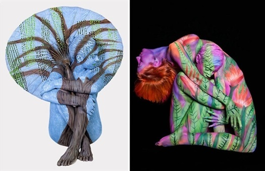 motorcycle  body  painting  art  photography  trina  merry 10  Amazing  Body  Painting  Photographs  By  Trina  Merry