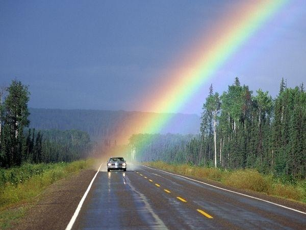 Photo: Rainbow spotlighting a
